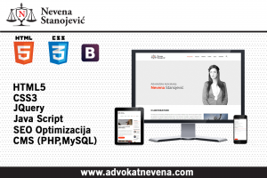 Website design for law office Nevena Stanojević